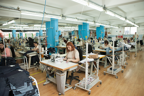 Team Fashion production line